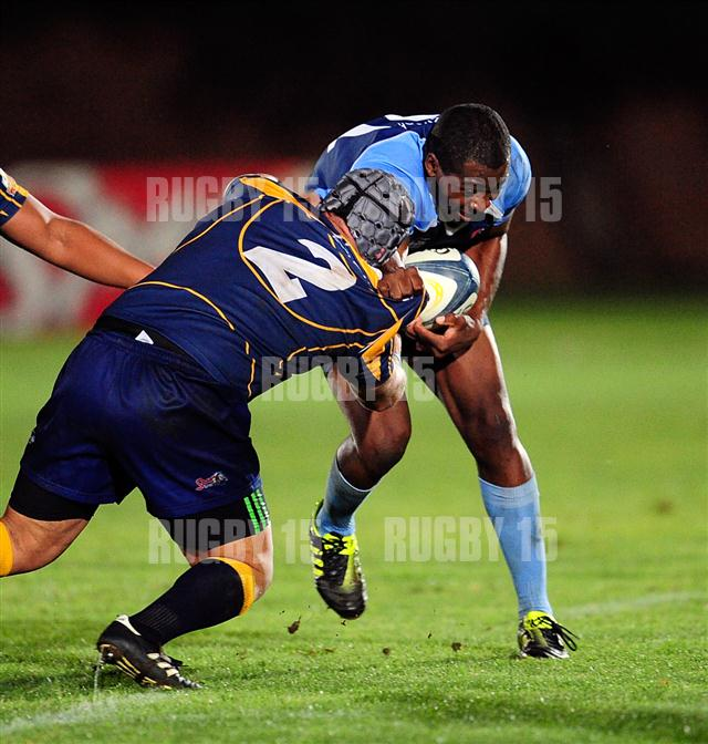 Frans Sisita during the Varsity cup match between the CUT and the UWC played at the CUT Stadium in Bloemfontein South Africa on 14 Maart 2011.  Photo: Gerhard Steenkamp/Superimage Media/+27824532345